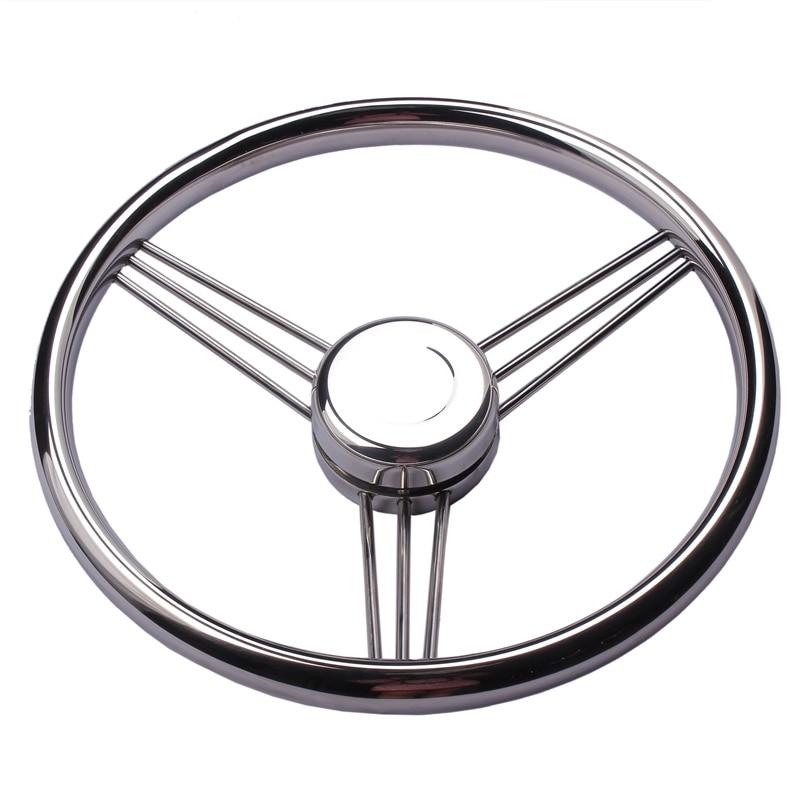 New Arrival Boat Accessories  Steering Wheel Stainless Steel 9 Spoke Knurling 13-1/2'' For Marine Yacht