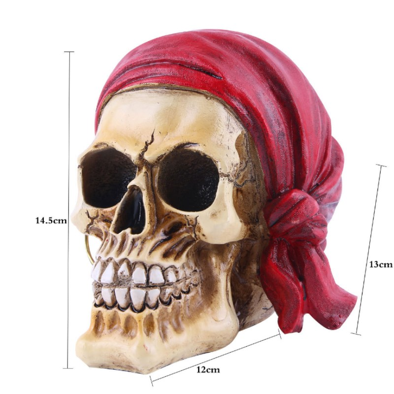 Halloween Resin Skull Home Decoration Gift Personality Decoration Home Accessories Resin Skull Bar Decoration in Figurines Miniatures from Home Garden