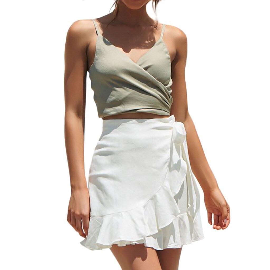 1566ba841df Однотонная гофрированная юбка модные ремни горячая Распродажа юбка Falda de  volantes solidos гофрированная solido Stevige gerimpelde