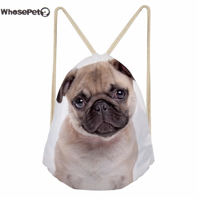 WhosePet Mini Backpacks Drawstring Bags Small 3D Puppy Animal Printing Kid  School Bag for Children Boys Girls Shoulder Rucksack