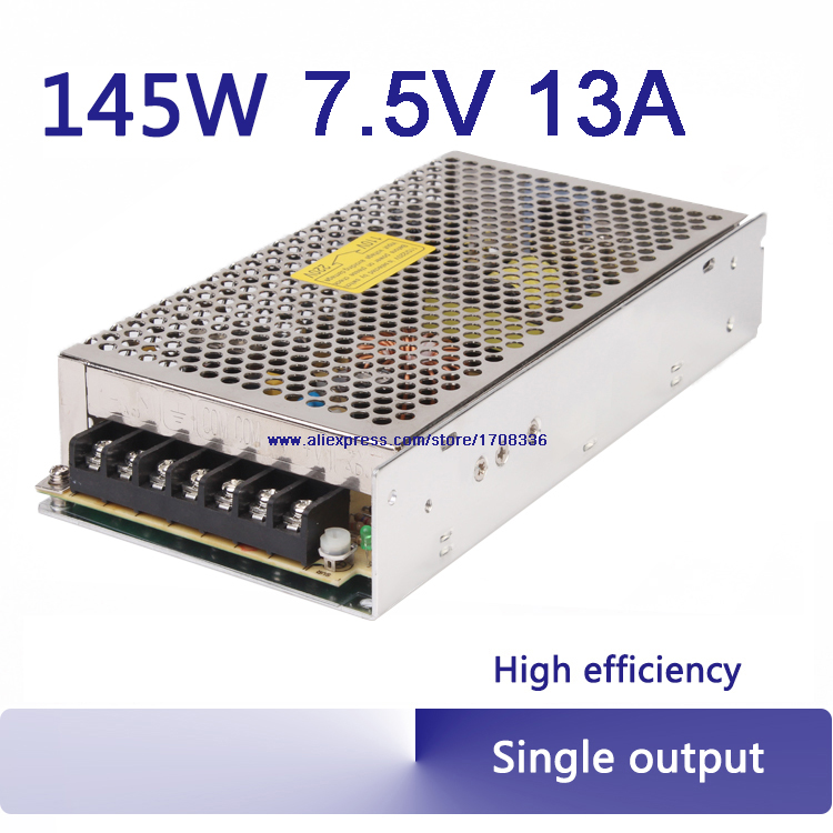7.5v 145W switching power supply AC TO DC 7.5V 18A single output adjustable smps variable switching power supply S-145-7.5 500w 36v single output switching power supply s 500w 36 ac to dc smps block power a class