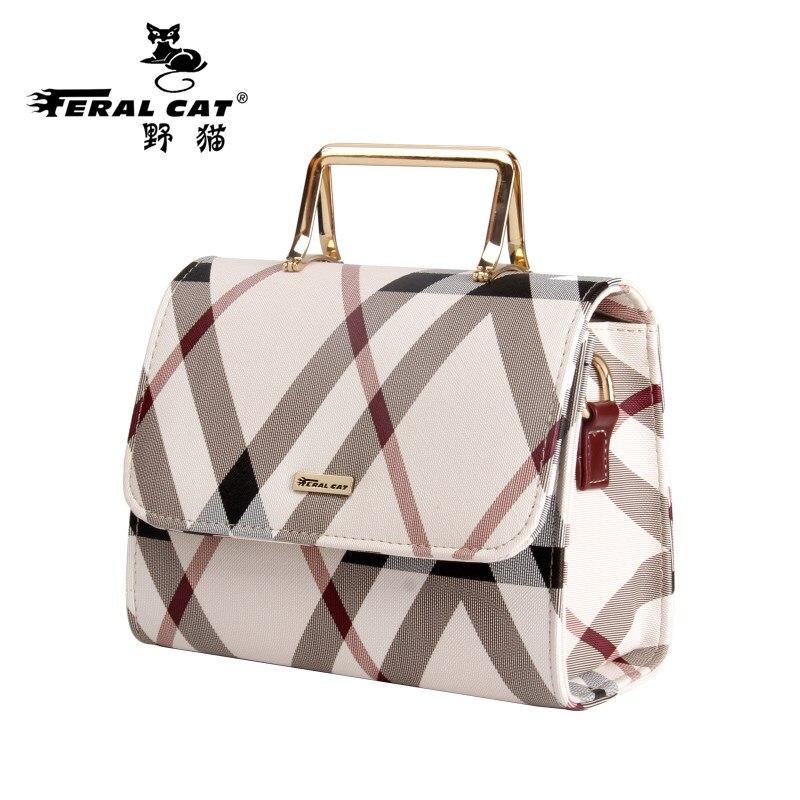 FERAL CAT 2017 New Designer font b Handbags b font High Quality Messenger Shoulder Luggage Luxury