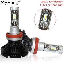 MyHung X3 H7 H11 9005 9006 H10 H11 Car LED Headlight Bulb 50W 6000LM LED Headlamp 6500K Single Beam Led Bulbs IP67