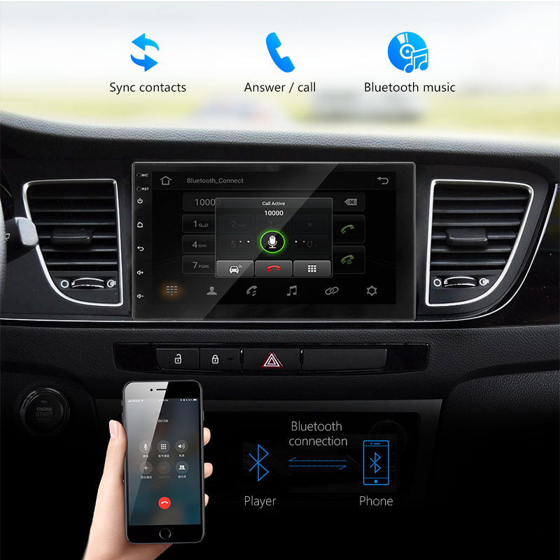 Image 5 - Vtopek car radio Android 7'' HD Car Multimedia player Touch Screen GPS Navigation Bluetooth Mirror link FM 1024*600 Rear View-in Car Radios from Automobiles & Motorcycles