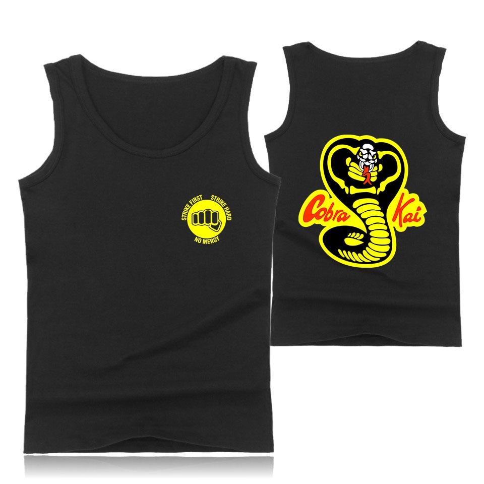 2018 TV Cobra Kai   Tank     Tops   Men/Women Pattern Print Sleeveless Shirts Summer Cobra Kai Cotton   Tank     Top   Loose Casual Vest