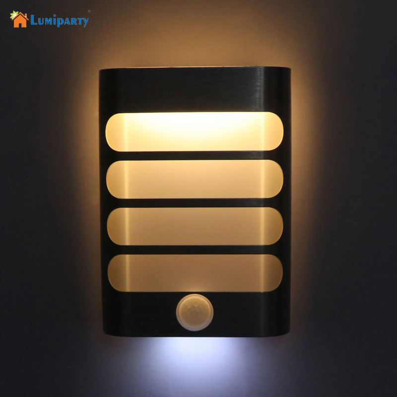 LumiParty New Night Light with Motion Sensor LED Wireless Wall Lamp Night Auto On/Off for Kid Hallway Pathway Staircase motion sensor led night light smart human body induction nightlight auto on off battery operated hallway pathway toilet lamps