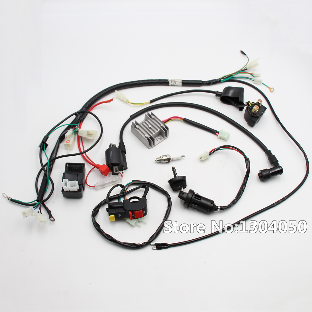 Complete Motorcycle Wiring Harness : Complete electrics wiring harness cdi ignition coil switch