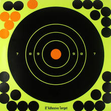 "10 Pack Shooting Targets Glow Shot Reactive Splatter Gun & Rifle 8"" Paper Target(China)"