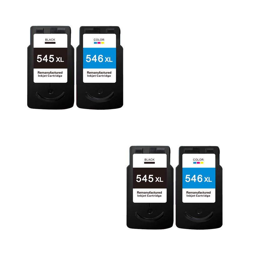 4pcs LuoCai Compatible ink cartridges for Canon PG545 CL546 PG-545 CL-546 IP2850 MX495 MG2950 MG2550 MG2450 printer PG 545 CL546 2017 for canon 545 pg545 pg545xl printer ink cartridges free shipping hot sale