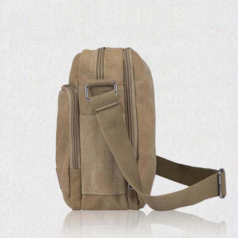 New 2018 Multifunctional Men Crossbody Messenger Bags Canvas Vintage Casual Shoulder Bags Mens Travel Bags