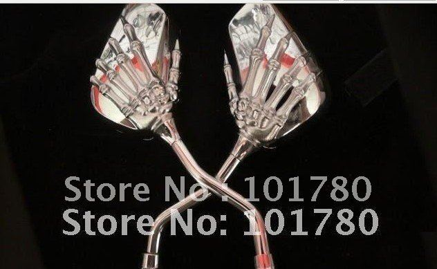 Fashion  human skeleton hand  electroplate mirrors,motocycle mirror,Reflector Universal For Custom Motorcycles