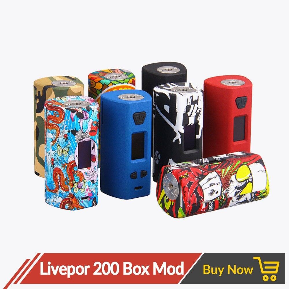 D'origine Yosta Livepor 200 w Boîte Mod Double Batterie TC Vaporisateur 0.08-3ohm 6 différents Mode Vaporisateur Mod Protection écran OLED E Cig