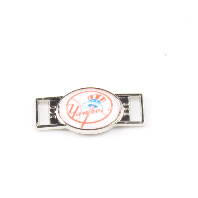 NY Yankees Baseball Team LOGO Shoelace Charms for Sport Shoes and Paracord Bracelets Fashion MLB Fans DIY Jewelry
