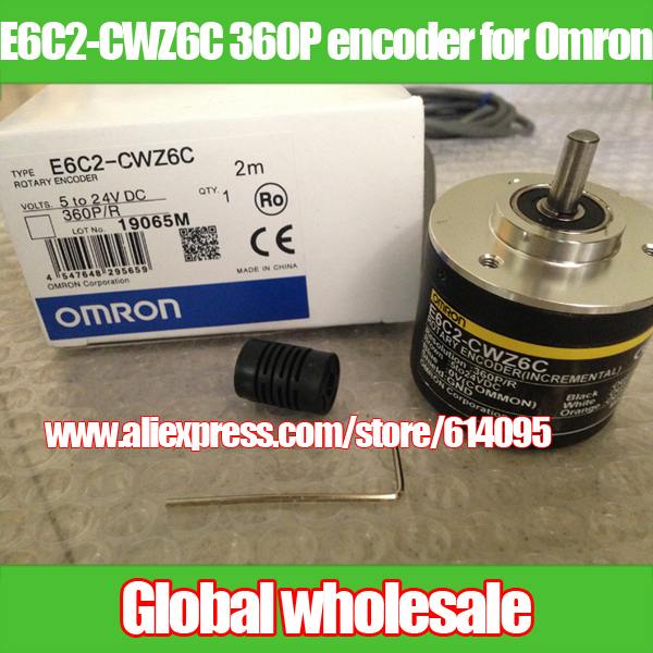 1pcs E6C2 CWZ6C 360P R encoder for Omron incremental rotary optical encoder 360 line pulse encoder