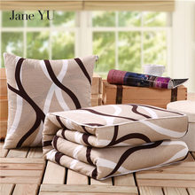 JaneYU Decorative Pillows Flower Prints Pattern Soft Bolster+Blanket Two Uses Cushion Good Quality Pillow Summer Quilt