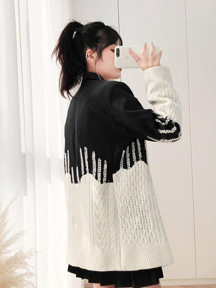 Unique Vestes Femmes De Picture Manches Dames Poitrine Blazer Laine Longues As Irrégulière Manteau À Mode Couture Getsring Veste PqSBHRZq