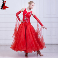 new sexy fashion Modern dance national standard ballroom dance dress waltz costume women freeshipping hot sale
