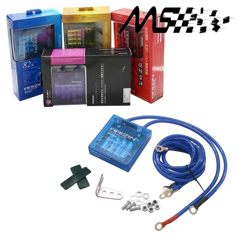 Universalbil Bränslesparare Fordonsspänningsspänningsstabilisatorregulatorer med 5 ledningar Digisplay-jordning för BMW TOYOTA HONDA