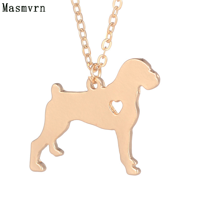 1pc Boxer Necklace Dog Pendant Pet Jewelry Silver Charm Personalized Pets Dog Animal boho Pendants Necklace Memorial Gift