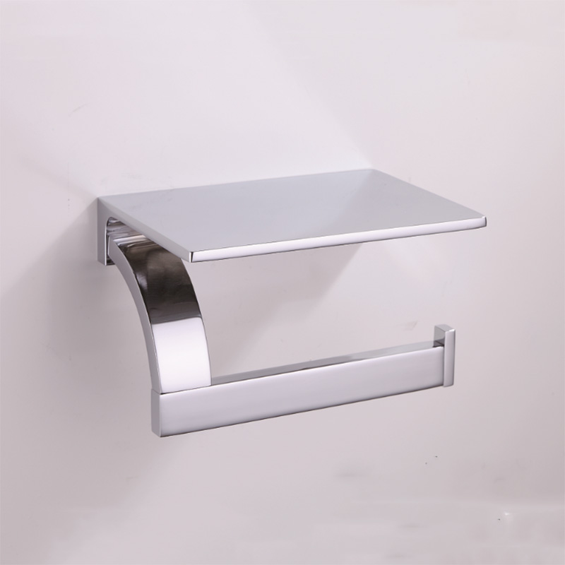 Chrome Toilet Paper Holder Luxury Antique Wall Mounted Brass Hanger Black WC Bathroom Tissue Roll Rack with Phone Holder Vintage 2016 newest verto toilet paper holder bathroom abs surface double tissue accessories quality wc soap holder can hold phone z3