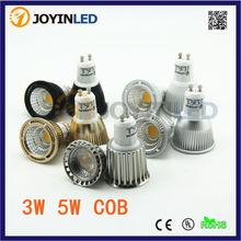 Double led lighting cup spotlights 220v cob pins lamp gu10 mr16 gu5.3 black mirror light bulb