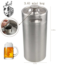 KEG STORM  8L 304 Stainless Steel Beer Growler Brewhouse Keg Style Bee Mini Silver Barrel for Bar Accessories