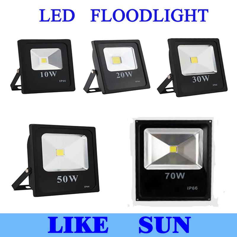 Warm Light Cool Light Super Bright Outdoor Led Flood Lighting Analytical 10w/20w/30w/50w/70w Led Flood Lights Rgb