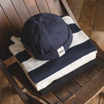 Maden Men Adjustable Denim Beanie Skull Cap Dockworker Hat Roll Cuff  Casual Caps Sailor Hats Male 5