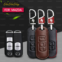 Flip Remote Button Key Case Holder Cover Bag 2 3 Button For Mazda 3 5 6