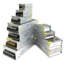 Transformadores 220v para 12v, para lâmpada led dc 5v 12v 24 v 3a 5a adaptador de fonte de alimentação, 10a 15a 20a 5 12 24 v volt led fonte de alimentação