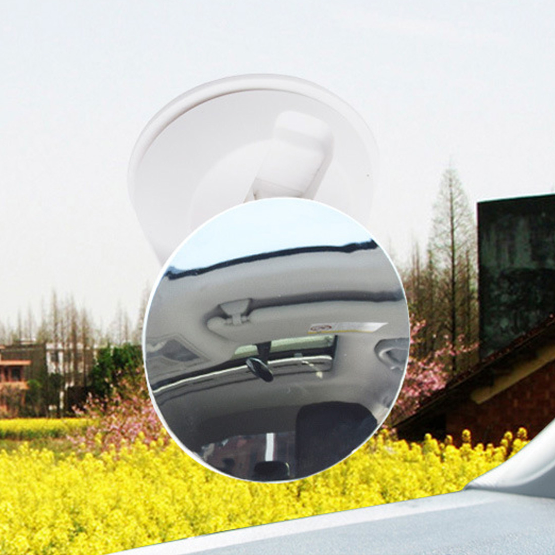Dewtreetali 360 Degree Suction Cup Car Back Seat Mirror Baby Rear Ward Facing Mirrors Safety Infant Kids Monitor Car Interior