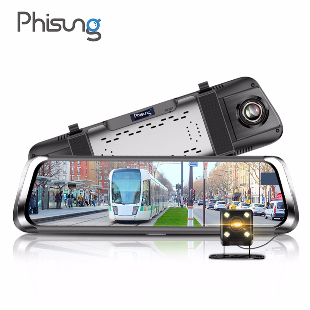 Phisung F800 Car DVR 10in Touch Car Rear View Camera Night Vision Reversing Auto Parking Monitor 16:9 HD Video with 16G TF Card vision r40 touch page 9