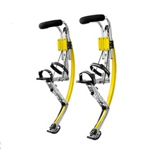 Kangaroo Hopping for adults Weight is 110 150 lbs 50 70kg YELLOW Color jump stilts skyrunner