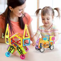 118PCS Barrel Magnetic Building Blocks Magnetic Educational Toy Set