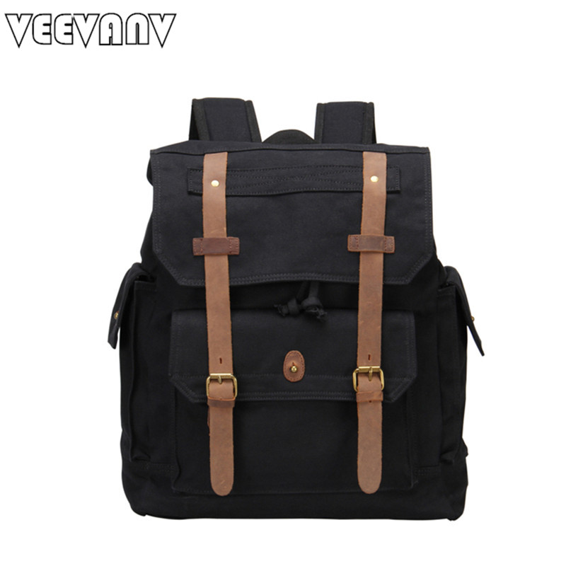 VEEVANV Rucksack casual leather men's backpacks women laptop computer backpack brand vintage canvas school travel shoulder bag 900w 1l fog machine remote wire control fogger smoke machine dj bar party show stage machine