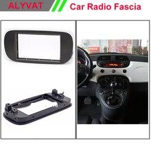 Top quality CAR radio fascia frame mounting stereo install trim installation 2-DIN dash kit for FIAT 500 2007+
