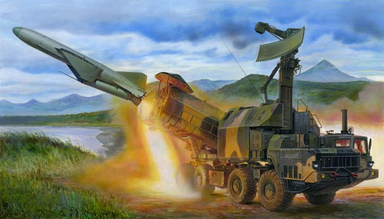Modèle d'assemblage en plastique militaire 01035 1/35 russe 4K51 jouet de lance-missile anti-navire