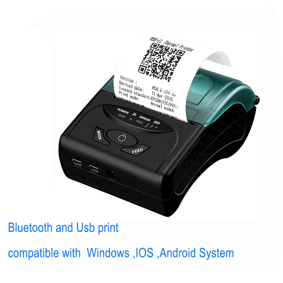 IssyzonePOS USB Bluetooth PS232 Thermal Printer 58mm Mobile Portable Printer Support Receipt Barcode Web PDF Printing IMP027IssyzonePOS USB Bluetooth PS232 Thermal Printer 58mm Mobile Portable Printer Support Receipt Barcode Web PDF Printing IMP027