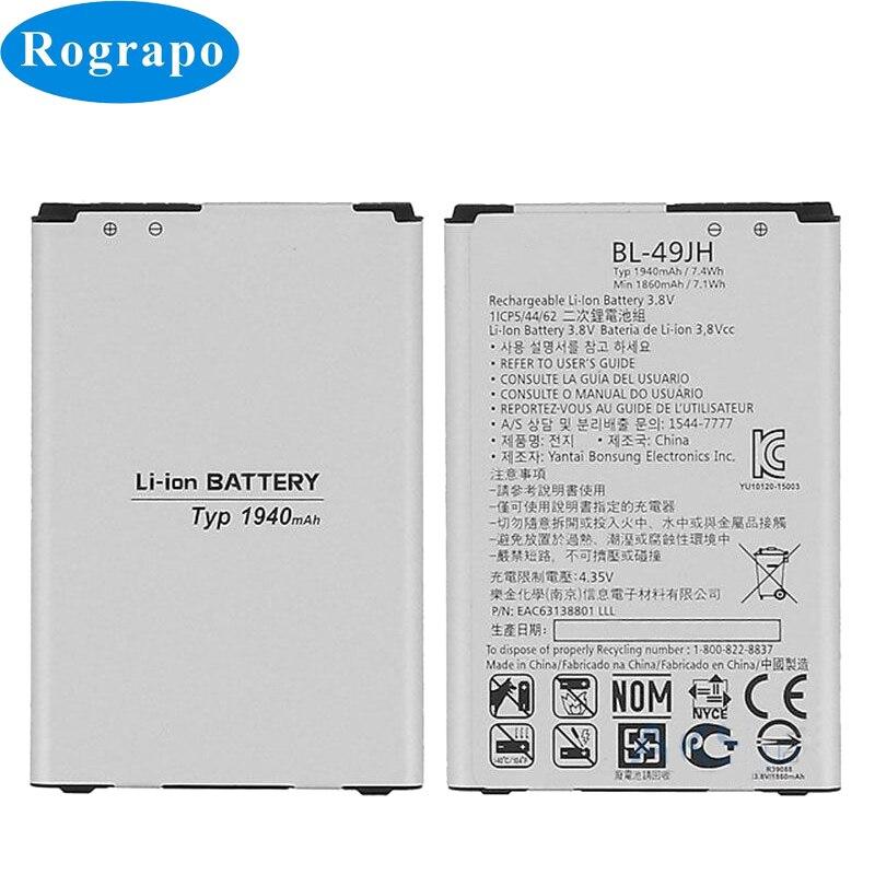 Full 1940mAh BL-49JH Replacement Mobile Phone Battery For LG K4 K3 4G 2016 LS450 K100 K120e K130e / K4 LTE K121 Batteries