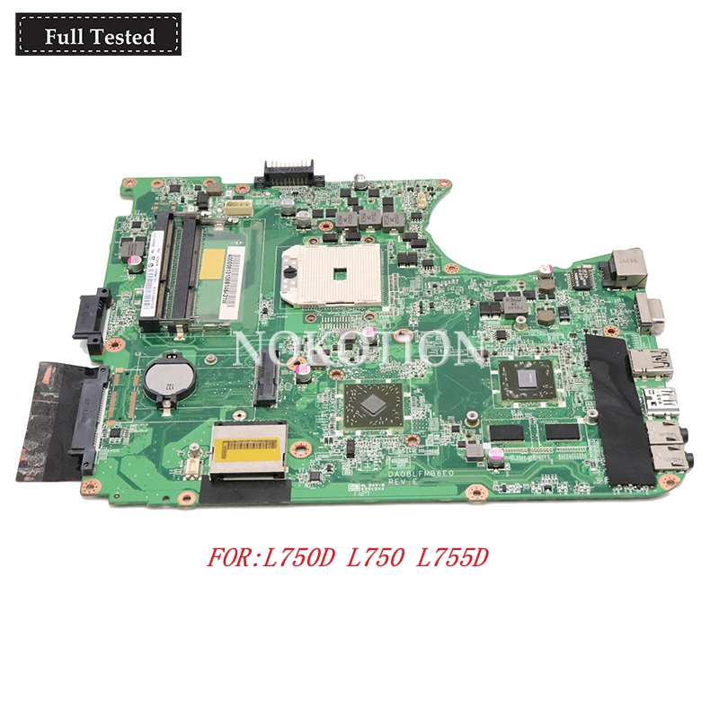 NOKOTION A000081310 Laptop Motherboard For toshiba satellite L750D L750 L755D DA0BLFMB6E0 ATI 7400M DDR3 Mainboard full testedNOKOTION A000081310 Laptop Motherboard For toshiba satellite L750D L750 L755D DA0BLFMB6E0 ATI 7400M DDR3 Mainboard full tested