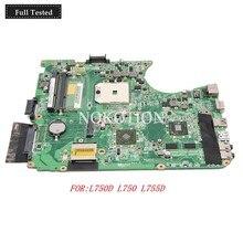 NOKOTION A000081310 Laptop Motherboard Para toshiba satellite L750D L750 L755D DA0BLFMB6E0 ATI 7400 M DDR3 Mainboard completo testado