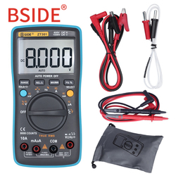 BSIDE ZT301 ZT302 True RMS Digital Multimeter 8000 9999 Counts Multifunction AC/DC Voltage Temperature Capacitance Tester DMM
