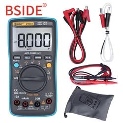 BSIDE ZT301 ZT302 True RMS Digital Multimeter 8000 9999 Counts Multifunction AC/DC Voltage Temperature Capacitance Tester DMM