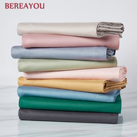 Solid Color 40S Cotton Flat Bed Sheets Single Double Queen Size 1pcs Bed Linen For Hotel Home Bedding Cover In Various Sizes