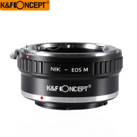 K&F CONCEPT Lens Mount Adapter for Nikon AI Lenses to the for Canon for EOS M Mirorless Camera