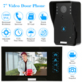 "KKmoon 7"" Wired Video Door Phone System Visual Intercom Doorbell with 1*800x480 Monitor + 1*1000TVL Outdoor Camera + 8G TF Card"