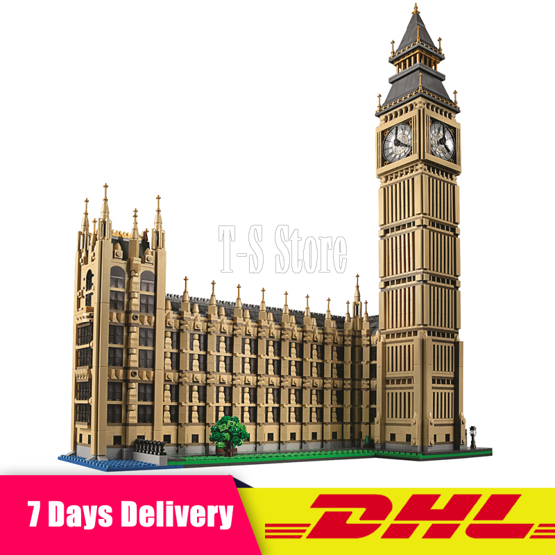 DHL LEPIN IN STOCK 4163pcs 17005 Big Ben Elizabeth Tower Model Building Kits Block Brick DIY Toys  Compatible 10253 Child Gifts elizabeth zimmerman focal sharp waves in psychiatric patients