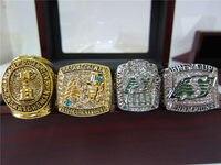 4 шт. 1966 1989 2007 2013 Саскачеван Рафрайдерс серый чемпионата кольцо с деревянной Дисплей коробка сувенирная мужчины вентилятор подарок