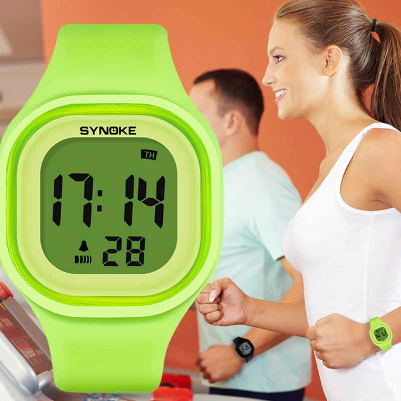 Led-Watch Digital Female Electronic Silicone Waterproof Women Sports Relogio Timer Feminino