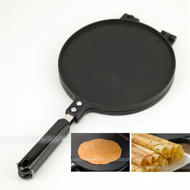 Crispy Egg Roll Pan 20cm Enhanced Crisp Pancake Pan Non-stick Crepes Baking Mould Great Christmas DIY gifts innovative owl shape silicone egg frying mould frying pancake mold breakfast mould creative kitchen supplies for diy present